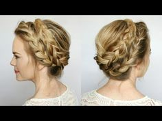 2 Minute Tutorial - How To Make French Milkmaid Braids Hairstyle! - LSW9