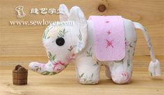 DIY Elephant Softie - FREE Sewing Pattern and Picture Tutorial