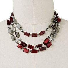 SONOMA life + style® Jet Bead Multistrand Necklace