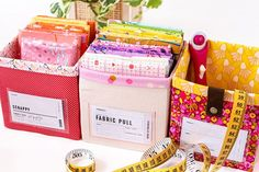 Sew Your Own Storage -The Ikea Billy Bookcase Storage System Ikea Billy Bookcase, Bookcase Storage, Small Sewing Projects, Sewing Ideas, Fabric Boxes, Printable Labels, Cool Fabric, Easy Storage, Fabric Design