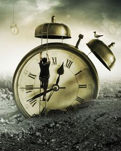 The Creator Writings ~ Waiting Time Surrealism Photography, Conceptual Photography, Somewhere In Time, Father Time, Clock Art, Ralph Waldo Emerson, Time Warp, Time Photo, Pics Art