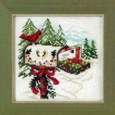 Holiday Delivery Bead Cross Stitch Kit Mill Hill 2011 Buttons & Beads - $10.99