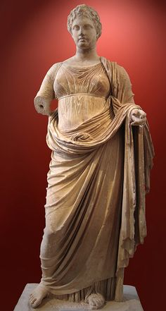 Themis. Marble, c. 300 BC. Found in Rhamnonte, at the temple of Nemesis. Dedicated to Themis by Megacles.