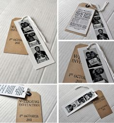 Wedding Invitation - such a sweet idea!