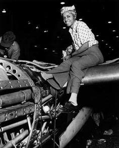 Rosie the Riveter Lockheed Aircraft Corp, Burbank, CA, 1943
