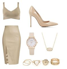"""""""B"""" by sxrxxrxs ❤ liked on Polyvore featuring Kendra Scott and Gianvito Rossi"""