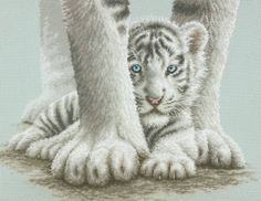Tiger Cub Sheltered Cross Stitch Kit - £30.25 on Past Impressions   by Dimensions