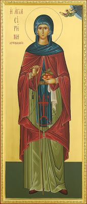By Protopresbyter Fr. George Papavarnava The Venerable Irene of Chrysovalantou came from Cappadocia and lived in the ninth century, during. Religious Icons, Religious Art, Religious Paintings, St G, Byzantine Icons, Art Icon, Orthodox Icons, Traditional Art, Christianity