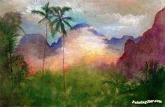 Uponohu, End of Cook's Bay, Island of Moorea, Sunset Artwork by John La Farge