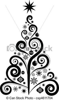 Swirl  Snowflake Tree  Christmas  Pinterest  Christmas trees