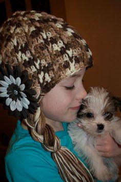 Addie  Kids size Crochet Cap w/ Braids Both by toolittlemonsters, $25.00