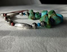Your place to buy and sell all things handmade Turquoise Jewellery, Turquoise Bracelet, Southwest Usa, Handmade Beads, Silver Beads, Native American, Ethnic, My Etsy Shop, Beaded Bracelets