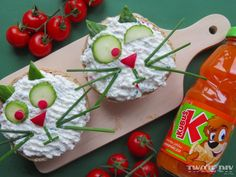Kindertag Ideen Kony Tod – desserts for kids Cute Food, Good Food, Yummy Food, Amazing Food Art, Food Art For Kids, Childrens Meals, Food Decoration, Soup And Sandwich, Food Humor
