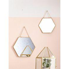 Espejo dorado en lote de 2 CYRILLUS   La Redoute Mobile
