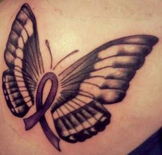 pancreatic cancer awareness tattoo
