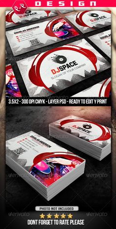 17 best dj business cards images on pinterest business card design dj business card template industry specific business cards dj business cards free business card flashek Image collections