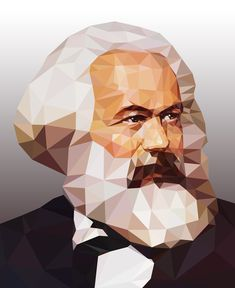 Karl Marx, Revolution Poster, Polygon Art, Soviet Art, Teaching History, Bear Art, Low Poly, Vector Art, Philosophy