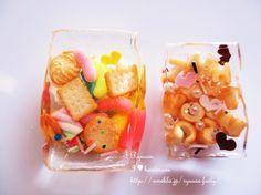 Ryuusa☆I loveハンドメイド☆ Decoden, Fruit Salad, Peach, Miniatures, Clay, Sweet, Food, Clays, Peaches