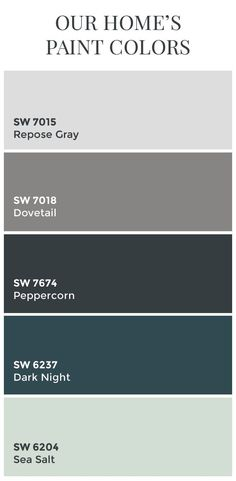 Paint Colors // Sherwin Williams Dovetail // Sherwin Williams Peppercorn…