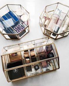 Treating your best-packaged beauty items like vanity jewelry will make your space look as beautiful as it is functional.