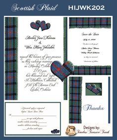 scottish save the date cards | Scottish Plaid Delux Wedding Kit on CD