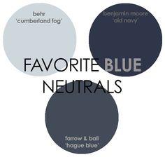 Favorite Blue Neutral Paint Colors