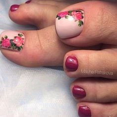 outstanding classy nail designs ideas for your ravishing look 38 - Free pattern and Tutori. 44 outstanding classy nail designs ideas for your ravishing look 38 outstanding classy nail designs ideas for your ravishing look 38 - Pretty Toe Nails, Cute Toe Nails, Toe Nail Art, My Nails, Acrylic Toe Nails, Pedicure Designs, Manicure E Pedicure, Toe Nail Designs, Pedicure Ideas