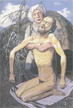 Photo - Lemminkainen's mother anoints her son's body into life - Bjorn Landstrom -