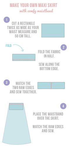 diy yoga waistband maxi skirt sewing pattern