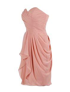 Dressystar Kurzes Trägerloses Chiffon Partykleid Abendkleid Mintgrün 32