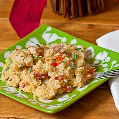 Sausage Chicken and Cheesy Rice