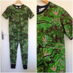 Tshirt Sleepsuit - Dinosaur Print Blouse, Fabric, Cotton, T Shirt, Clothes, Tops, Design, Women, Style
