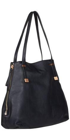 JOIE Edie Tote Black | Leather Handbag