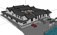 20 Kinds of Chinese Landscape Sketchup Models(Best Recommanded! 3d Model Architecture, Asian Architecture, Stairs Architecture, Amazing Architecture, Presentation Board Design, Interior Presentation, Product Presentation, Traditional Chinese House, Landscape Model