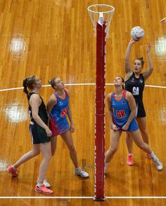 Alice Teague-Neeld of the Magpies shoots for goal during the round six ANL match between the Netball NSW Waratahs and the Tasmanian Magpies at Sydney Olympic Park Sports Centre on March 26, 2017 in Sydney, Australia.