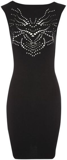 Cutout Bodycon Dress - Lyst