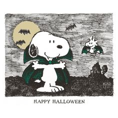Description: Happy Halloween from Snoopy and Woodstock. The two are featured as vampires in this Peanuts canvas art. - Peanuts wall art featuring Vampire Snoopy and Woodstock - Durable art print on high quali Halloween Canvas, Holidays Halloween, Vintage Halloween, Halloween Crafts, Halloween Cartoons, Snoopy Love, Charlie Brown And Snoopy, Snoopy And Woodstock, Peanuts Cartoon