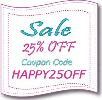 FelicityPatterns Sale -- Coupon Code --- HAPPY25OFF 10/31/14 to 11/02/14