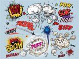 Comic Book Explosion Pop Art feature wallpaper from ohpopsi Bd Comics, Free Comics, Birthday Photo Booths, Birthday Photos, Boy Birthday, Arte Pop, Pop Art, Brush Effect, Poster Mural
