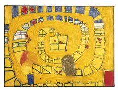 532 The Lion of Venice by Friedensreich Hundertwasser (1928-2000, Austria)