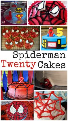 20 Spiderman cake ideas. These spiderman cakes are so cool - perfect for a kids Spiderman party, or for spiderman fans of all ages ;)
