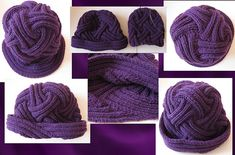 Ribbed Entrelac Hat.... oy ve...
