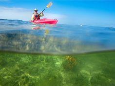 Picture of a paddler in a kayak off the coast of Big Pine Key, Florida Florida Keys Camping, Camping Uk, Florida Travel, Camping Generator, National Geographic Travel, Kayak Rentals, Kayak Adventures, Kayak Tours, Best Location