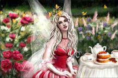 Tea in the garden by Natalia Godik