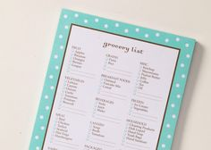 Grocery List Pad