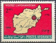 Sello: Map of Afghanistan (Afganistán) (Tourism) Mi:AF 969,Sn:AF 736