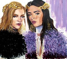 « Fur for spring only bc @officialrodarte says so #fashionillustration #painting #rodarte #spring2016 #odilegilbert #nyfw »