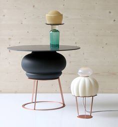 Side table and table lamp by Hanna Krüger VENTURA DISTRICT