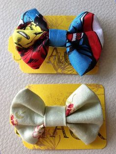 Mini fabric bow  available in different fabrics by KatiecraftShack, $2.00