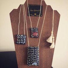 Fabric Beads, Felt Fabric, Fabric Art, Jewelry Crafts, Jewelry Art, Handmade Jewelry, Jewelry Design, Textile Jewelry, Fabric Jewelry